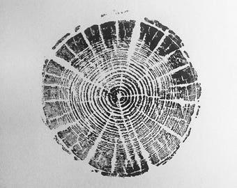 Original Tree Stump Print