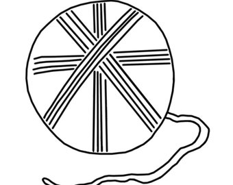 Coloring Page: Ball of Yarn