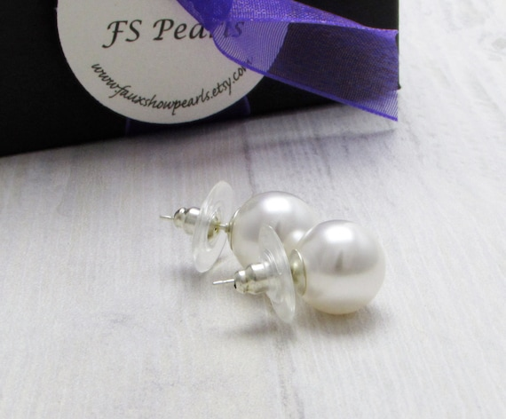 new faux cream round earrings classic ebay b brand popular costume large pearl extra mm bn s stud x