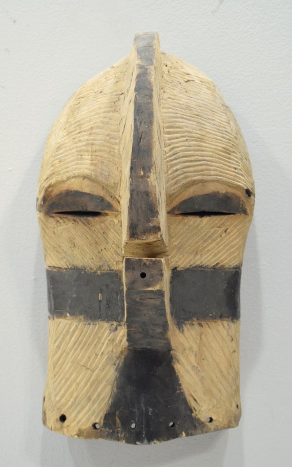 African Mask Songye Male Wood DRC Mask 28""