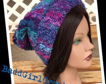 Ribbed Beanie Hat In Navy - Blue Dead Vintage 9HEl4dk