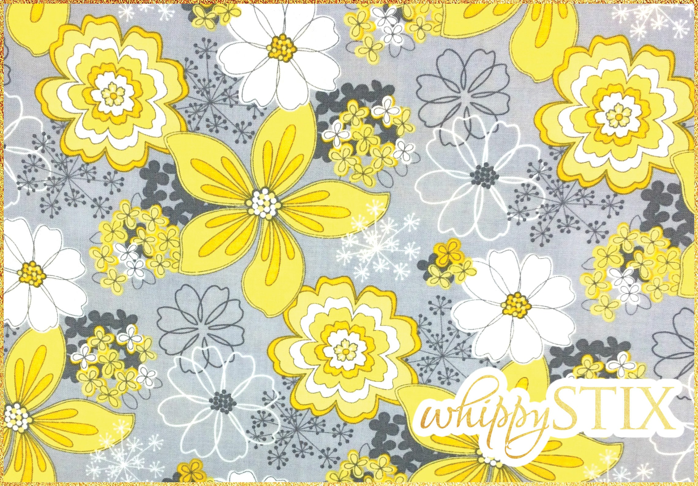 Last one floral fabric 1 yard gray matters jackie studios camelot last one floral fabric 1 yard gray matters jackie studios camelot fabrics 4140401 yellow grey flowers cotton quilting material mightylinksfo