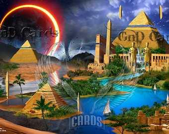 "Custom Playmat ""Egypt"" MTG"