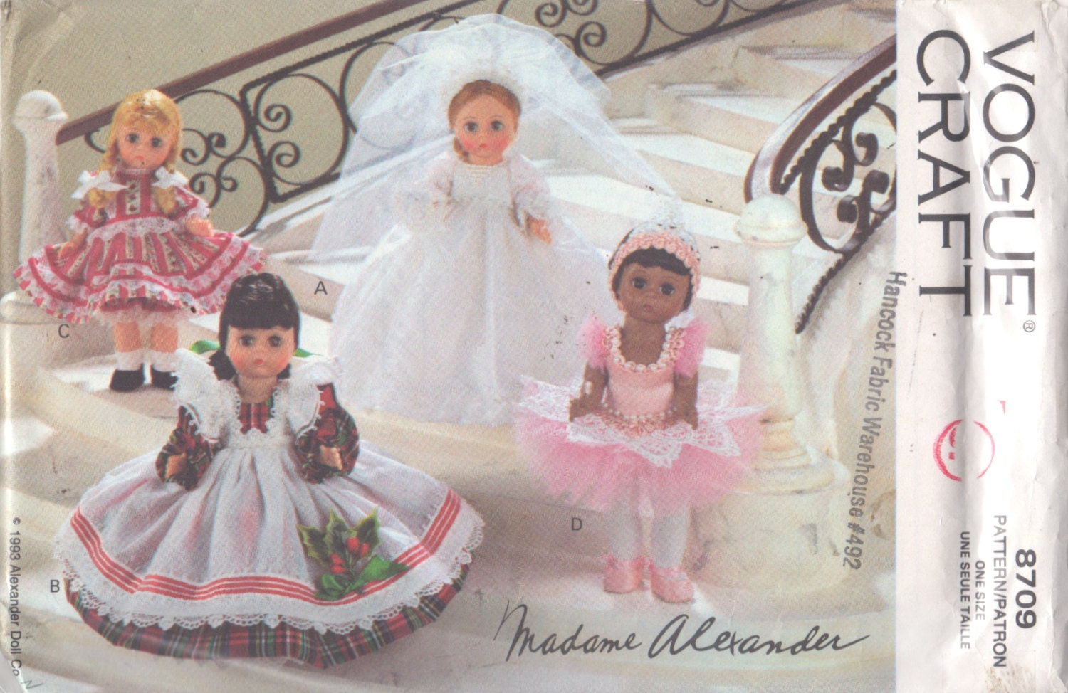 Vogue 8709 MADAME ALEXANDER Baby Doll Clothes Pattern 4