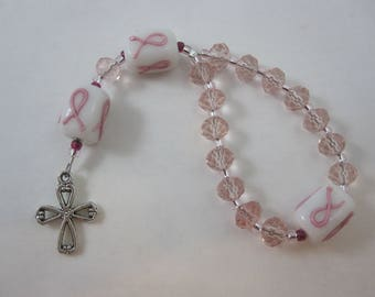 Breast Cancer Awareness Prayer Bead Chaplet