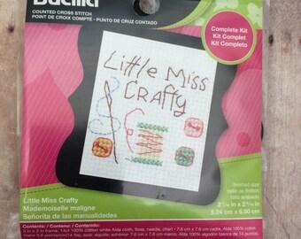 Little Miss Crafty Cross Stitch Kit by Bucilla