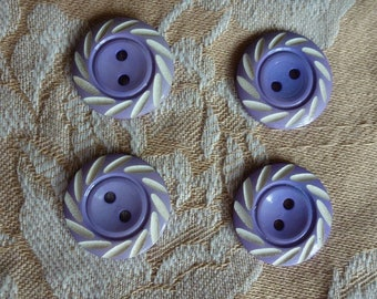 lavender blue buttons and off-white pattern