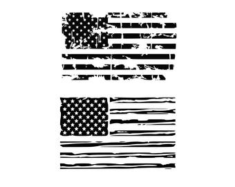 American flag svg Distressed American Flag svg USA Flag svg Patriotic svg Distressed flags SVG DXF July 4 svg