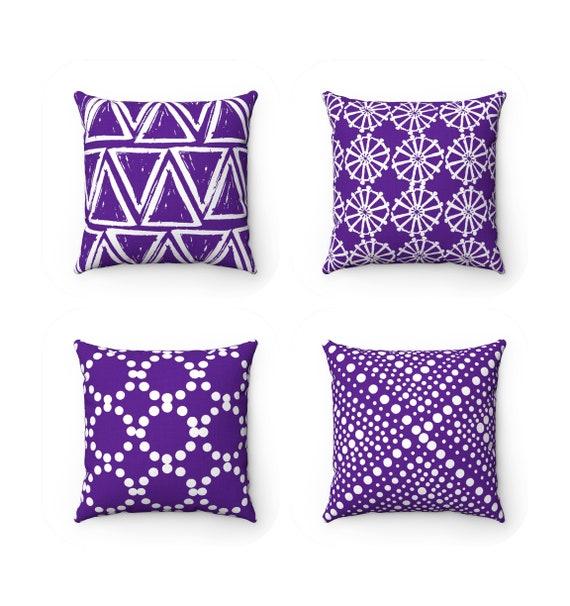 OUTDOOR Throw Pillow . Violet Outdoor Pillow . Violet pillow . Violet Patio Cushion . Throw Pillow 16 18 20 inch . Purple Lumbar Pillow