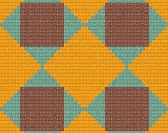 Opal Quilt Afghan C2C Crochet Pattern, Written Row by Row Counts, C2C Graphs, Corner to Corner Crochet Pattern, Graphgan, C2C Graph