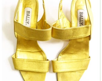Bally Gold Shoes