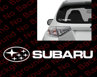 SUBARU Logo Vinyl Die Cut No Background Decal Sticker for Hooligan Car Windows  WRX STI Impreza Rally Forester Performance RC049