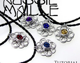 Chainmaille Tutorial - Helm Flower with Mobius Centre Pendant
