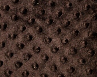 "Dark Brown Minky Dot Cuddle Fabric - Sold By The Yard - 58""/ 60"""