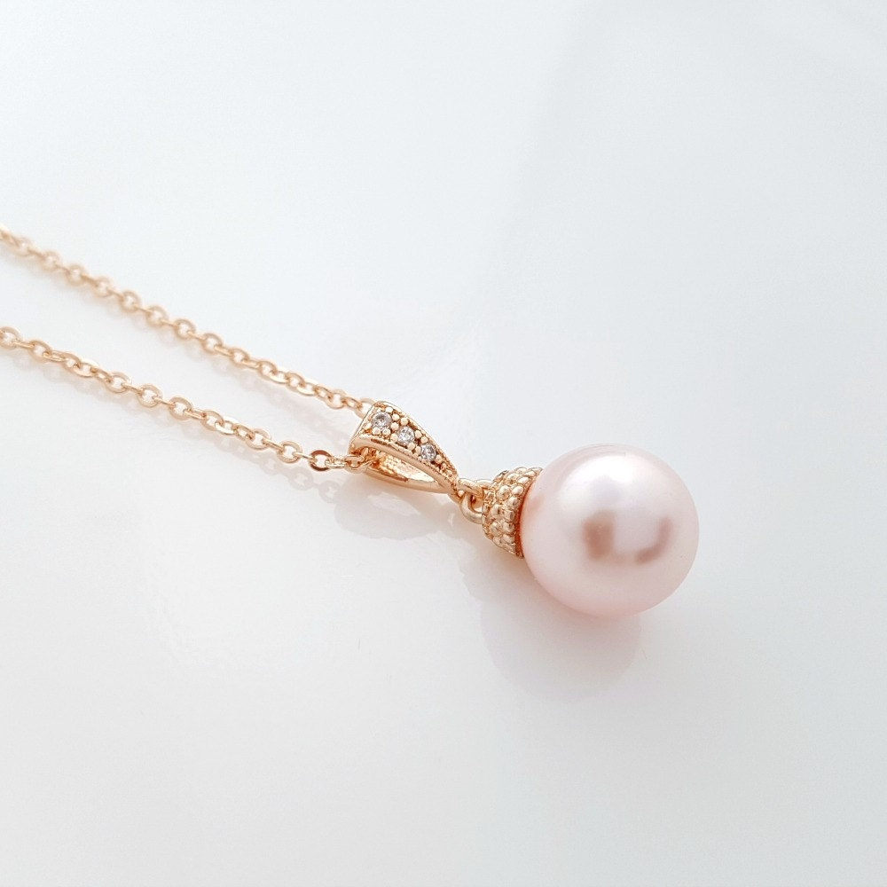 pearl products flower petals silver sterling cz pink zirconia chain necklaces large pendant white cubic collections necklace