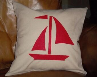 Sailboat Pillow 12 X 12