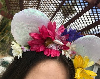 Iridescent Butterfly Garden Ears