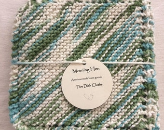 Green Knit Dishcloth