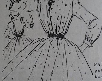 Vintage 50s ANNE FOGARTY Pointed Collar Full Skirt Shirtwaist Shirt Waist Dress Sewing Pattern B36
