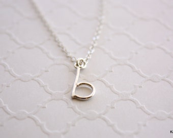 Alphabet Letter Necklace, Initial Necklace, Personalized Jewelry, Silver Letter Necklace