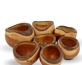 The Small Gathering - Yew Wood Bowls - Handmade Home Decor - Sale