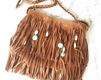 Vegan leather fringe purse, beaded fringe purse, boho bag, festival purse, bohemian, fringe beaded bag, fringe purse, leather bag, fringe