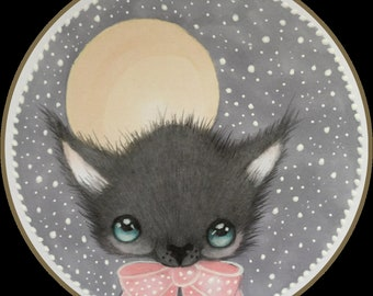 Original art little Wes the werewolf lowbrow fantasy art