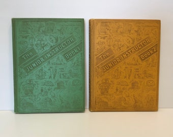 The Junior Instructor in Two Books A Treasure Trove of Adventure for Boys and Girls 1953
