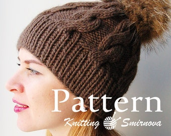 Knitting Hat PATTERN, Knitting PATTERN, Knitting Pattern for women, Knit beanie Pattern Knitting hat pattern for men, pattern digital - PDF