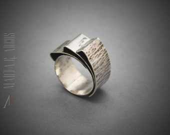 Handmade SILVER ring, hammered silver ring, design silver 925 ring, textured silver ring