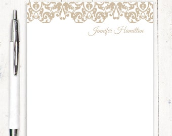 personalized notePAD - LACY EDGE - pretty stationery - women's stationary - fancy notepad - feminine letter writing paper