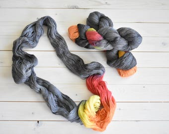 Firepit - Hand Dyed Yarn - Baby Alpaca Silk Lace Weight Yarn - Twisted Fiber Shop