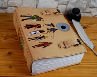 Large Leather Journal Gift Cosplay Journal Notebook Diary Recipes Book Personalized Journal A4 Journal TiVergy.