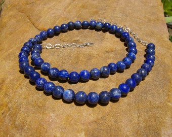 Necklace - Lapis and Sterling Silver
