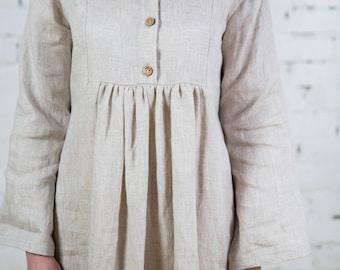 Linen dress, vegan dress, beach, linen overalls , beige linen dress, linen womens clothing/ LD0001