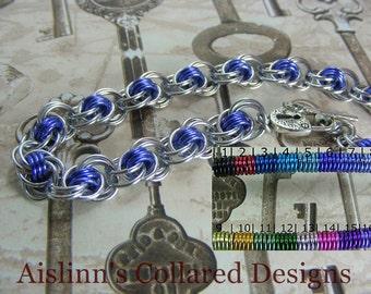 Ocean Waves BDSM Slave Collar Choker Necklace Silver Base