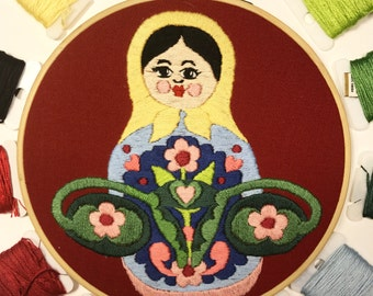 Digital embroidery pattern, Big swinging Ovaries -MATRYOSHKA- , design by Jess de Wahls #BSODIY