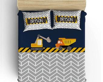 Exceptional CONSTRUCTION BEDDING Comforter  Boy Duvet Cover, Construction Pillowcase  Bedding, Toddler, Twin,