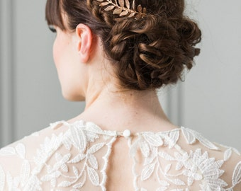Laurel Leaf Mini Comb, Rose Gold comb, bridal comb, bridesmaid gift, wedding combs, rose gold headpiece, bridal hair combs, wedding  #201