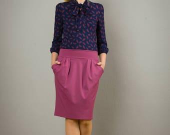 """Skirt""""Berlin Calling"""", in  rosewood"""