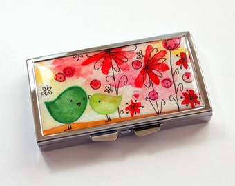 Pill Box, Pill Container, Pill case, 7 sections, 7 day, Gift for her, pill case for her, Stocking Stuffer, Gift for Mom, Mothers Day (3818)
