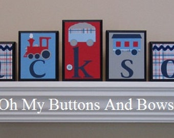 Name Blocks . Wall Letters . Name Letters . Baby Name Blocks . Wall Letters . Personalized Name Decor . Train theme . Jackson
