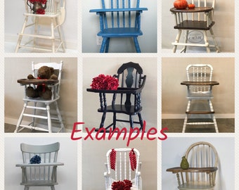 Vintage Highchairs Available for Custom Finish