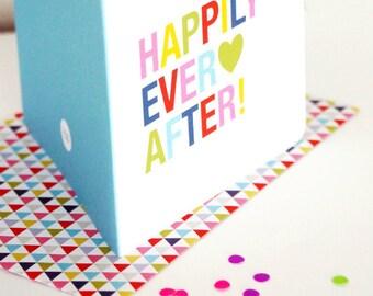 Grußkarte zur Hochzeit [HAPPILY EVER AFTER!]