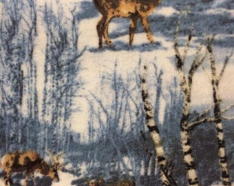 Flannel Deer in the Woods Pillowcase