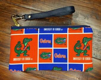UF Purse, UF Gators Wristlet, Florida Gators Phone Purse