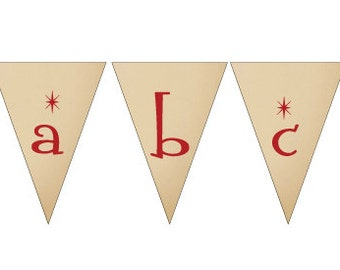 Tiki Decoration - Printable Banner - The Whole Alphabet Is Included. Perfect For Luau, Tiki Party, Birthday or Graduation!