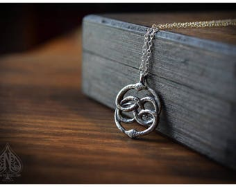 Auryn silver pendant Neverending Story film version inspired - small size