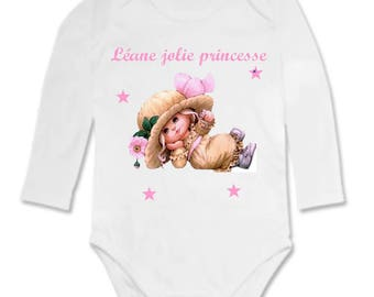 Pretty Princess personalized with name baby Bodysuit