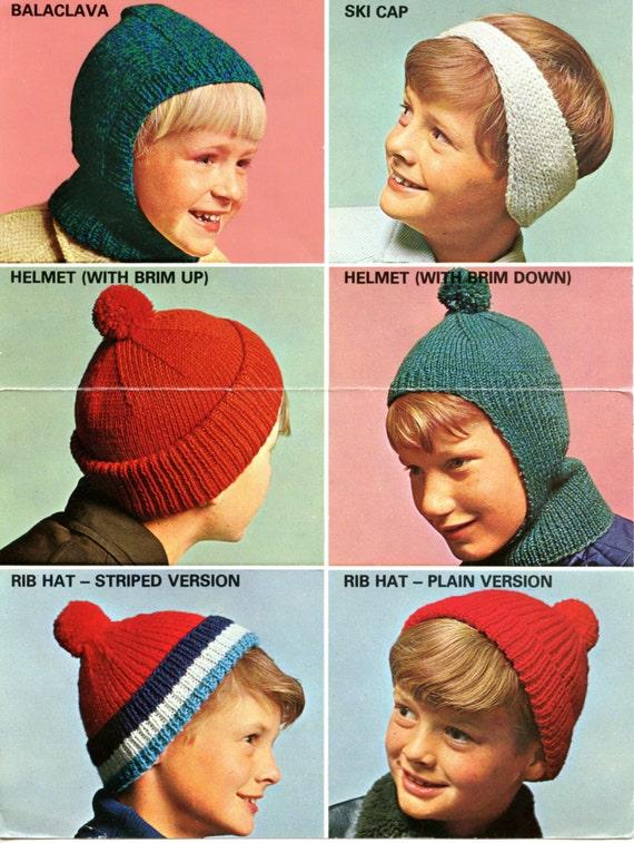 Pdf Instant Download Vintage 1970s Knitting Pattern Four Designs